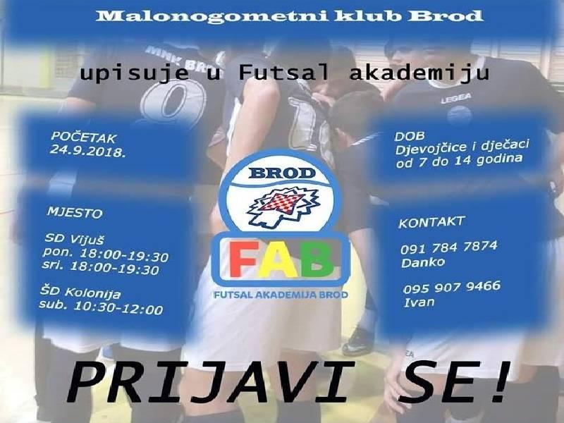 Počimaju upisi u Futsal Akademiju Brod