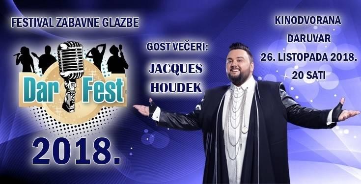 Večeras u Daruvaru festival 20 novih skladbi i izvođača, gost večeri Jacques Houdek