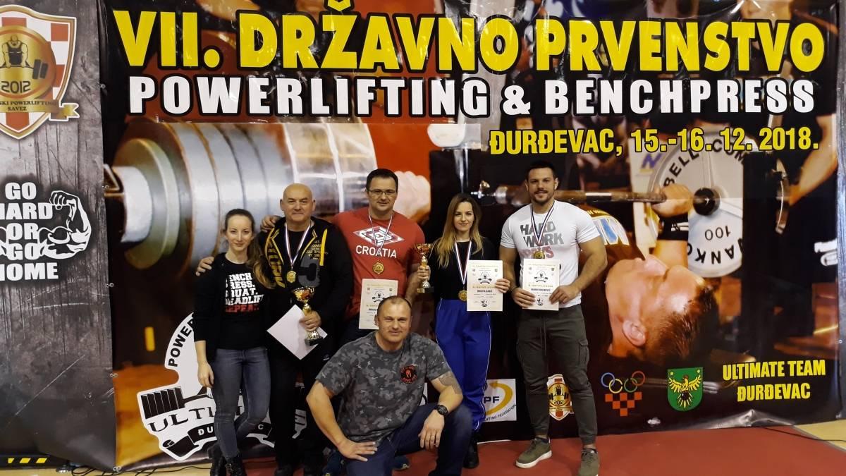 Marina Abramović i Marko Milinović dominirali na državnom prvenstvu u powerliftingu i bench pressu