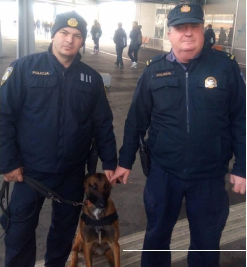 I policijski pas dio prevencije na brodskom korzu