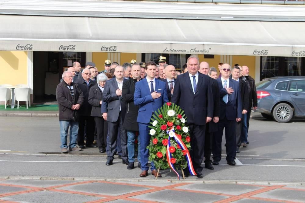Polaganje vijenaca povodom Dana grada Požege na Trgu 123. brigade u Požegi 12.3.2018.