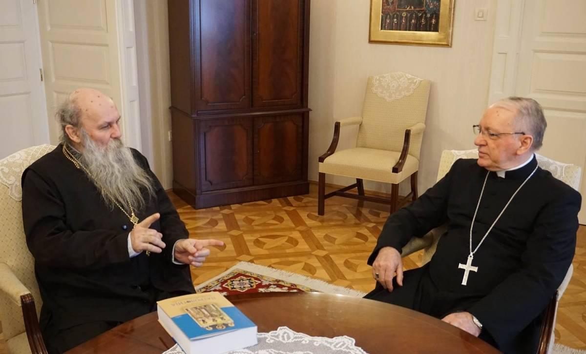 Biskup Škvorčević primio slavonskog episkopa Jovana