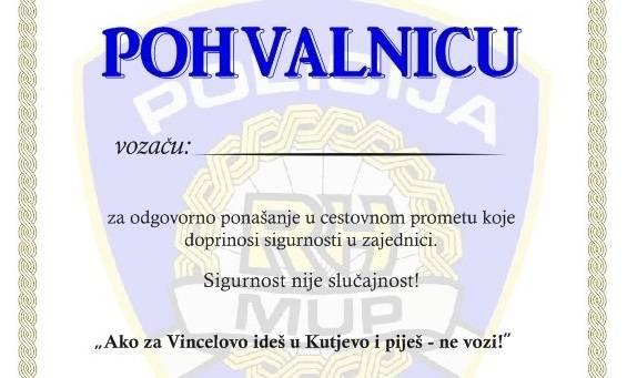"""Policija apelira na vozače: """"Ako za Vincelovo ideš u Kutjevo i piješ – ne vozi!ʺ"""