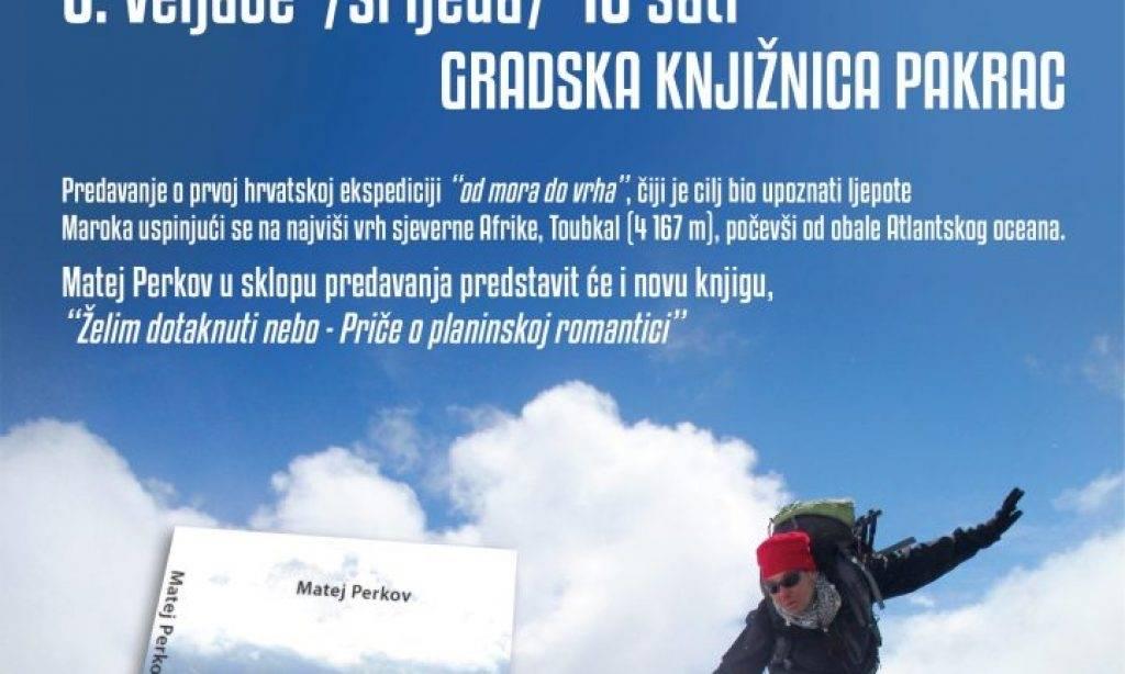 Gradska knjižnica Pakrac: Putopisno predavanje Mateja Perkova