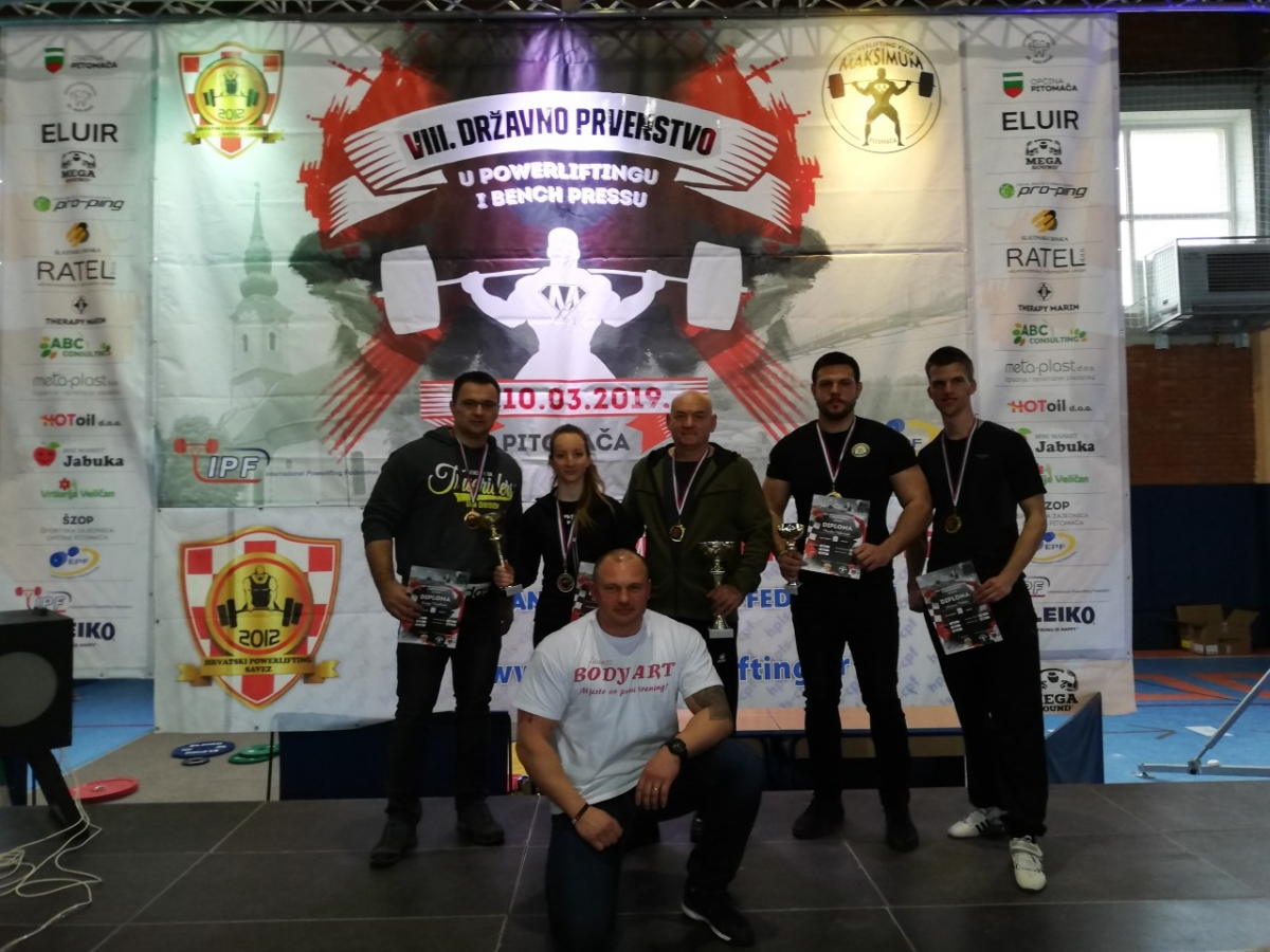 Powerlifting klub Body art Požega ima pet državnih prvaka u bench pressu