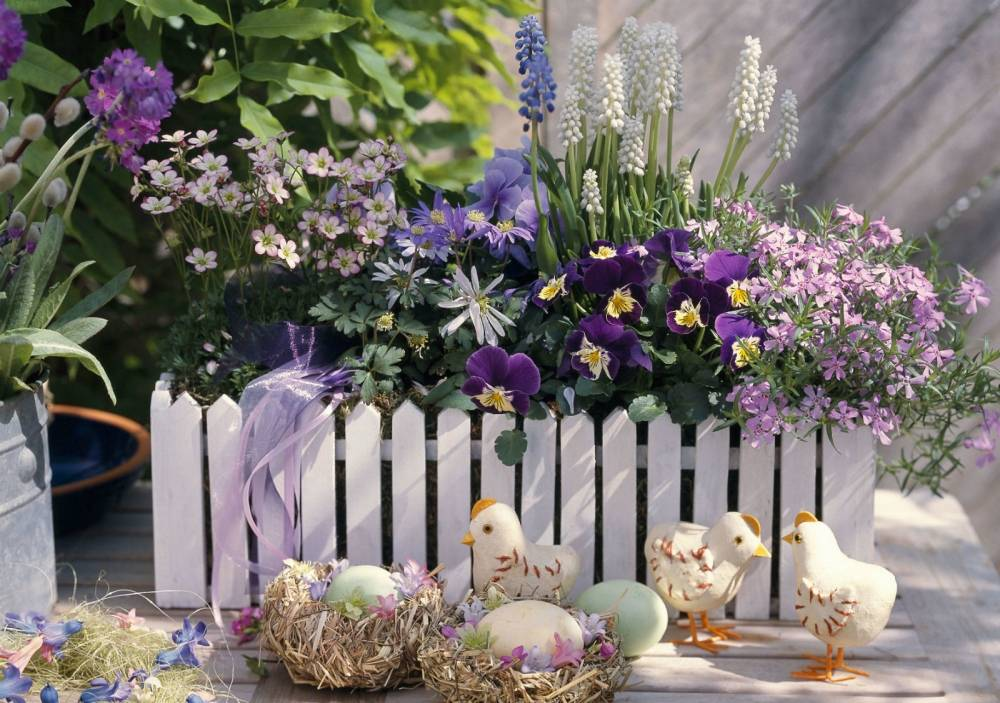 12 ideja za uskrsne dekoracije s maćuhicama