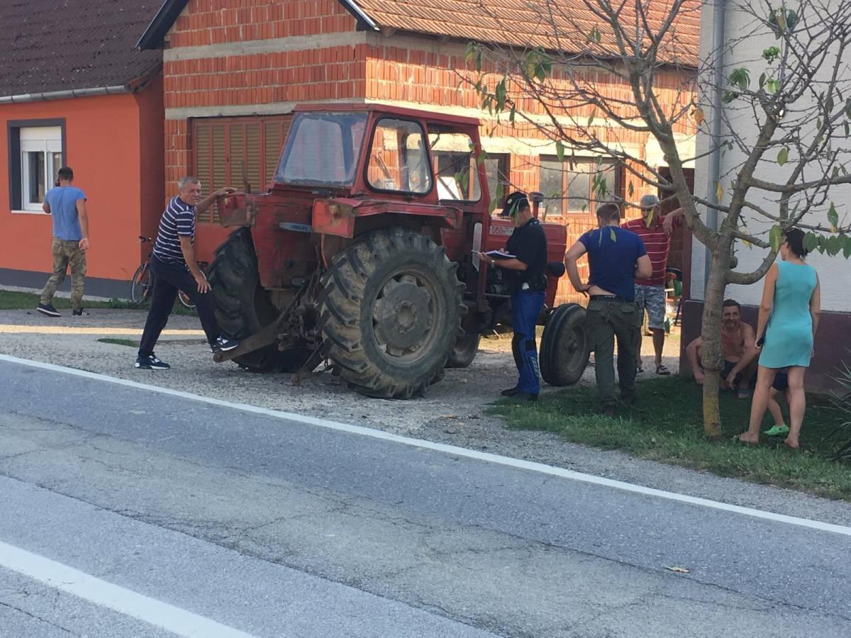 Za jučerašnju prometnu nesreću u Frkljevcima kriv 27-godišnji vozač traktora