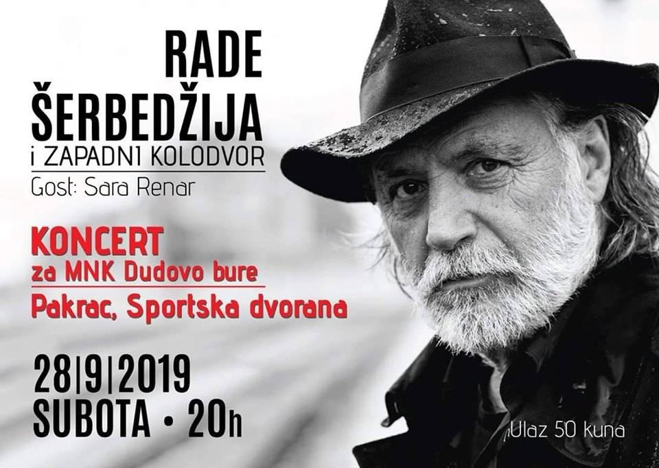 "Rade Šerbedžija i ""Zapadni kolodvor""  pjevaju za ""Dudovo bure"" u Pakracu"