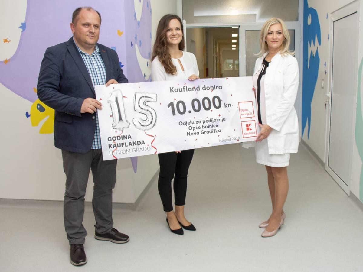 Kaufland povodom rođendana donirao 60 000 kuna bolnicama među kojima je i ona u Novoj Gradišci