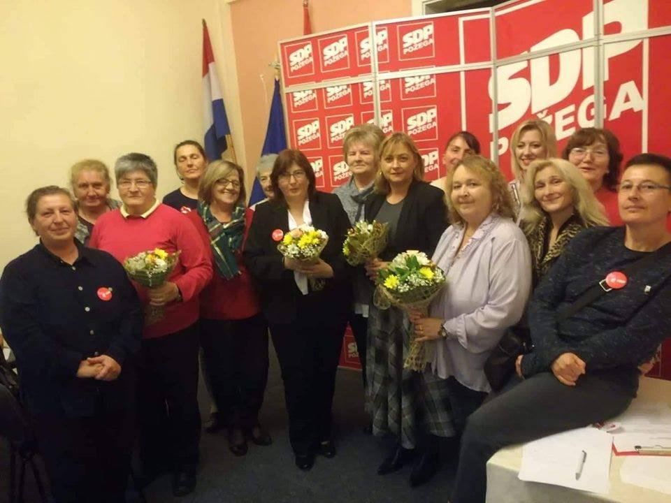 Izborna skupština Županijske organizacije socijaldemokratskog foruma žena SDP-a Požeško-slavonske županije