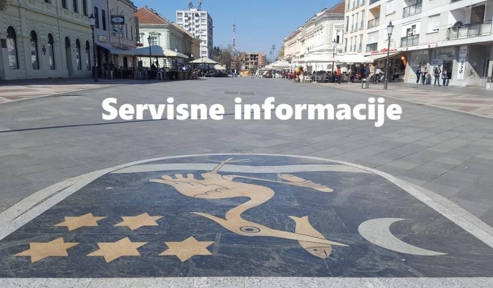 Servisne informacije UTORAK 10. travanj 2018.