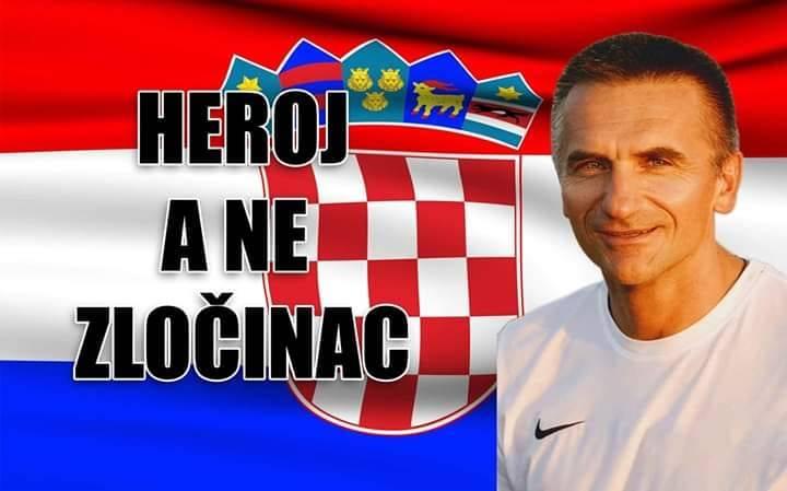 Internetom kruži fotografija Brodskog trenera Kovačevića s natpisom ʺHeroj a ne zločinacʺ