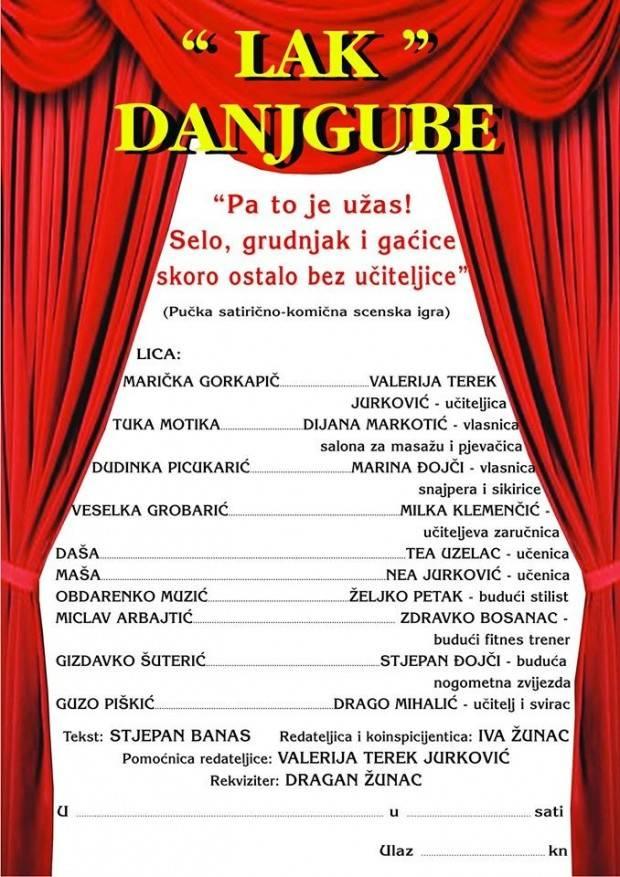 U nedjelju ponovno nastupa Ladislavsko amatersko kazalište ʺDanjgubeʺ