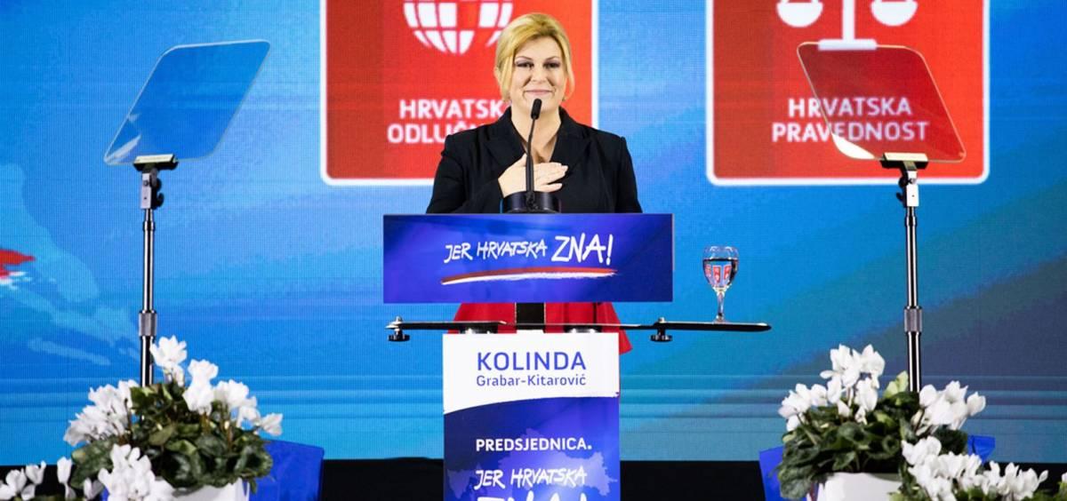 Kolinda Grabar-Kitarović kreće u borbu za drugi mandat pod sloganom ʺPredsjednica, jer Hrvatska znaʺ