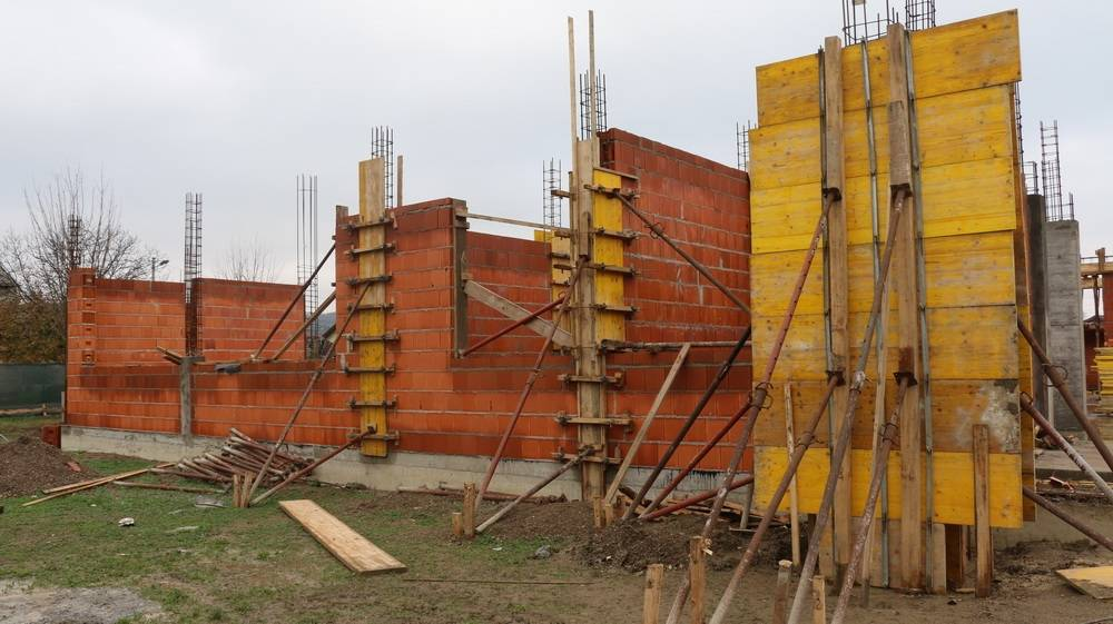 Ovako danas izgleda gradilište novog mjesnog doma na Koloniji
