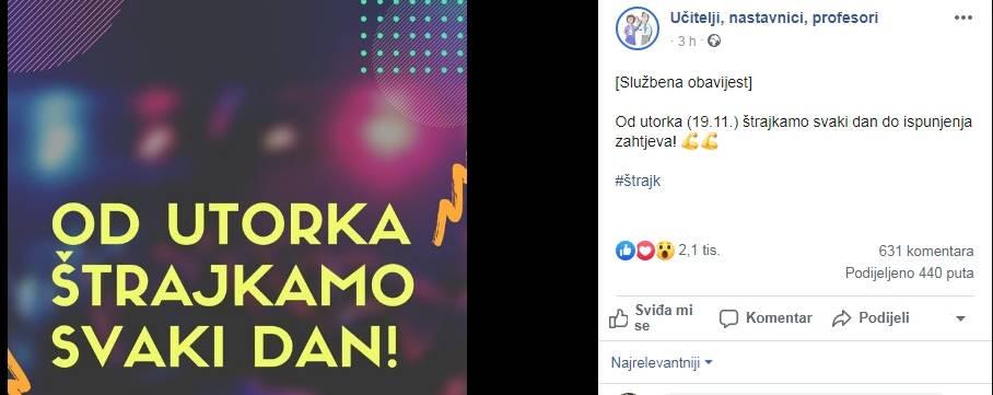 Od sutra škole u Hrvatskoj štrajkaju svaki dan do ispunjenja zahtjeva!