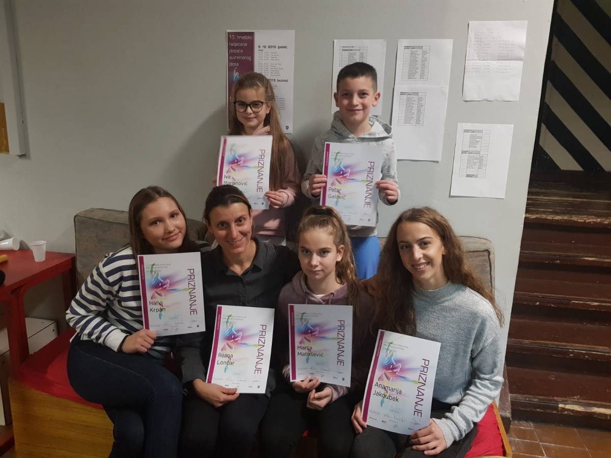 UO Plesna radionica Ilijane Lončar vratila se s uspjehom s 13. hrvatskog natjecanja plesača suvremenog plesa Mia Čorak Slavenska
