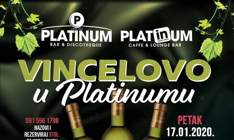 Vincelovo u Platinumu u petak i subotu