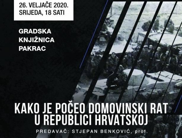 Predavanje Stjepana Benkovića: ʺKako je počeo Domovinski rat u RHʺ