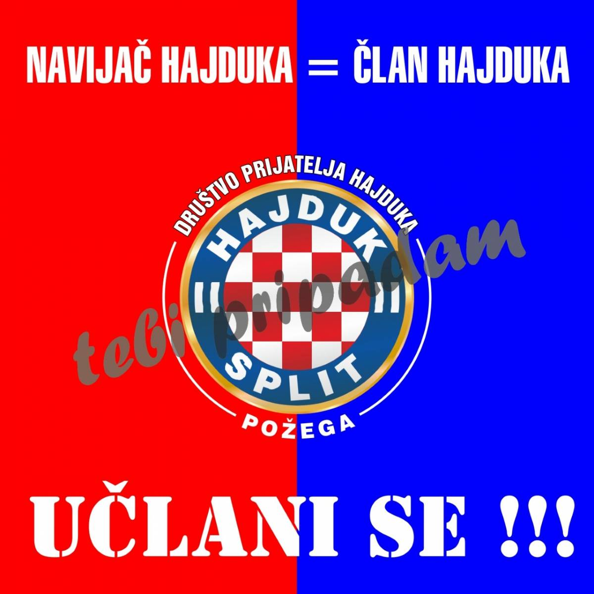 Idući vikend ćete se u Požegi moći učlaniti u HNK Hajduk iz Splita