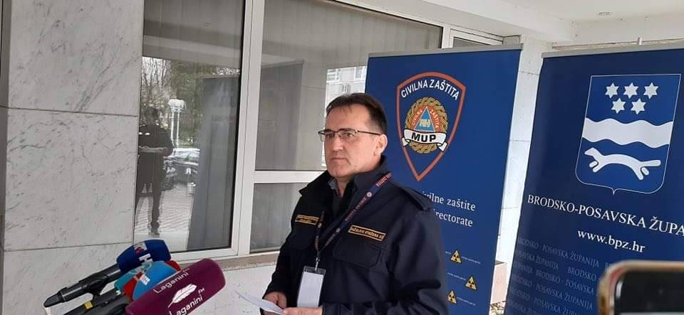 U Brodsko-posavskoj županiji i dalje zaražene 2 osobe: 66 osoba napustilo mjesto stalnog boravka bez valjanih propusnica