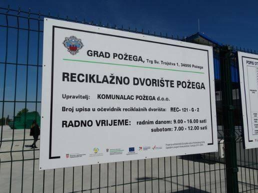 Privremeno zatvorena reciklažna dvorišta u Požegi i Pleternici zbog koronavirusa
