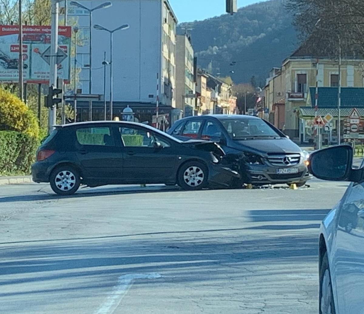 Prometna nesreća kod starog autobusnog kolodvora u Požegi