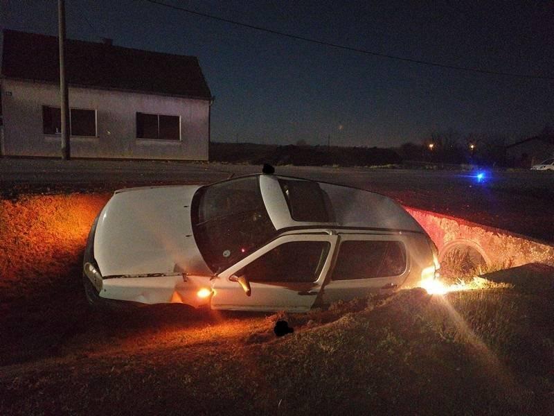 25-godišnjak s 0,84 promila alkohola izazvao prometnu nesreću do koje je došlo zbog neprilagođene brzine