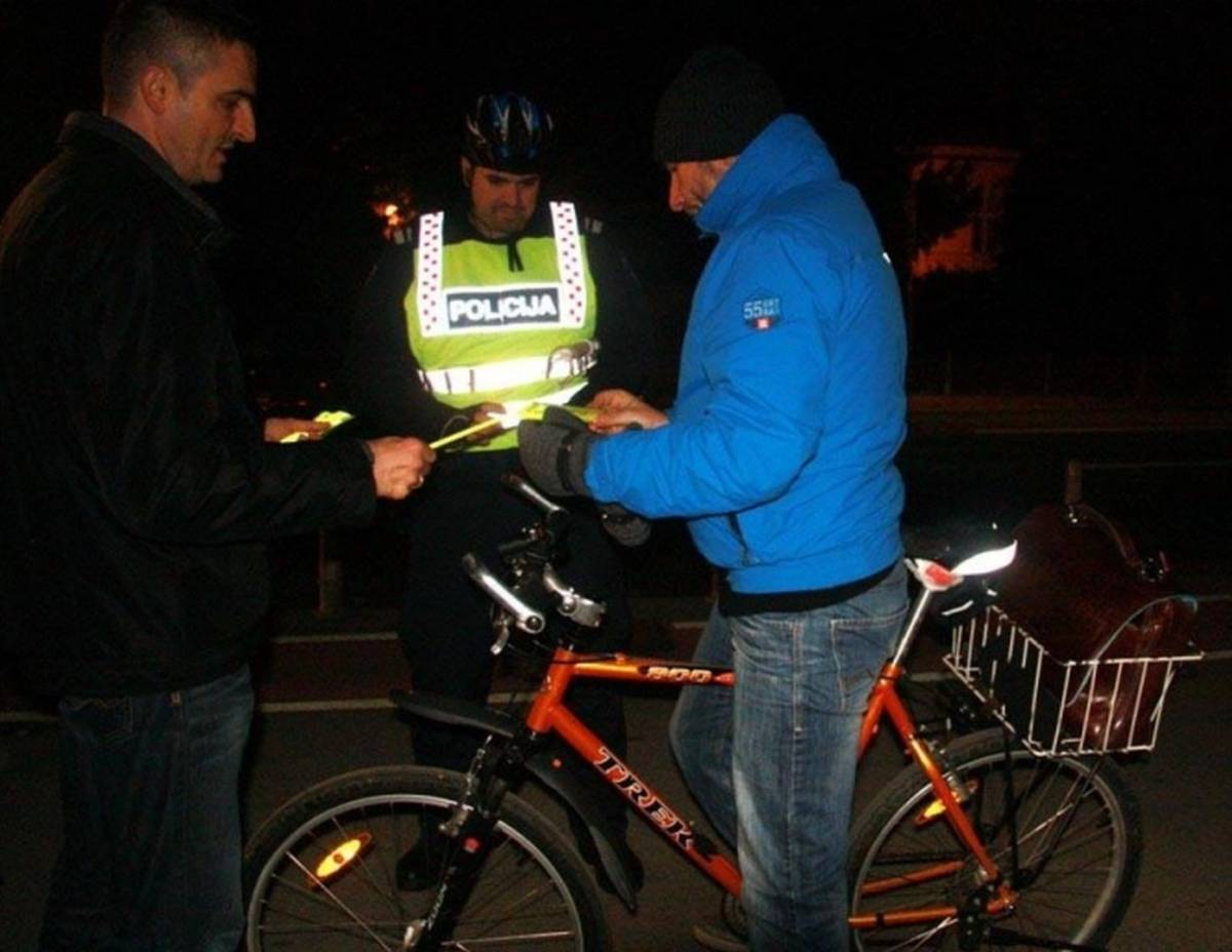 45-godišnjak oko ponoći upravljao biciklom bez svijetla pod utjecajem alkohola od 1,30 promila