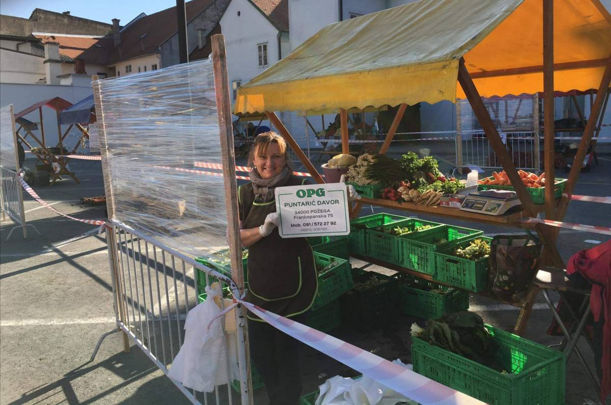 Tržnica u Požegi od danas je započela s radom uz posebne mjere zaštite od koronavirusa