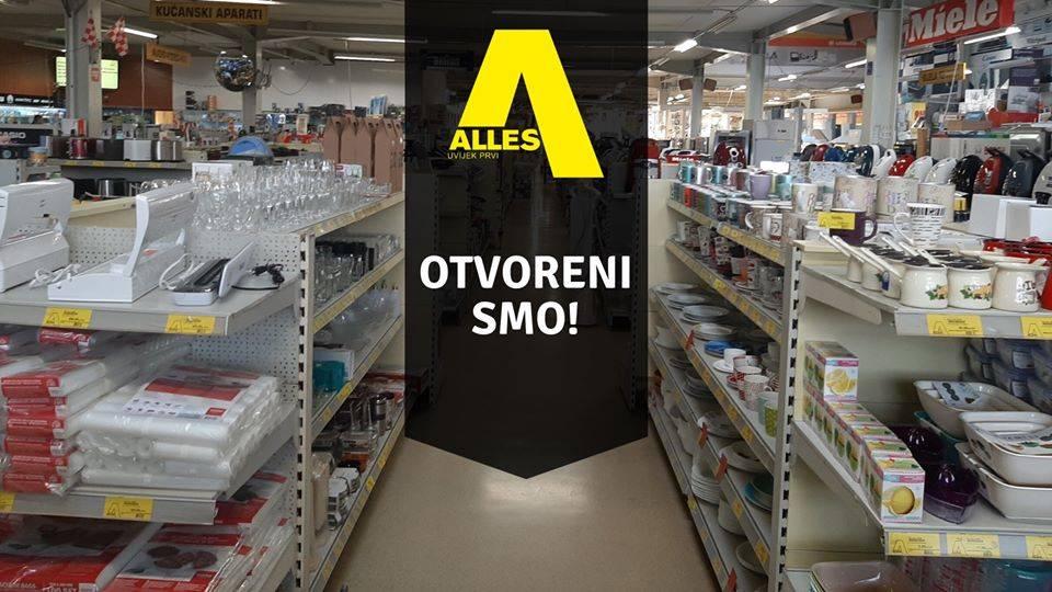 PRIDRŽAVAJTE SE PROPISANIH MJERA: Od danas je ponovno otvorena trgovina Alles