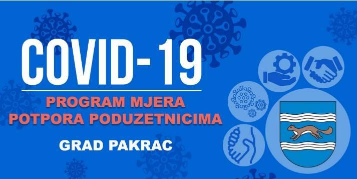 Pakrac objavio program mjera potpora poduzetnicima zbog epidemije virusa COVID-19