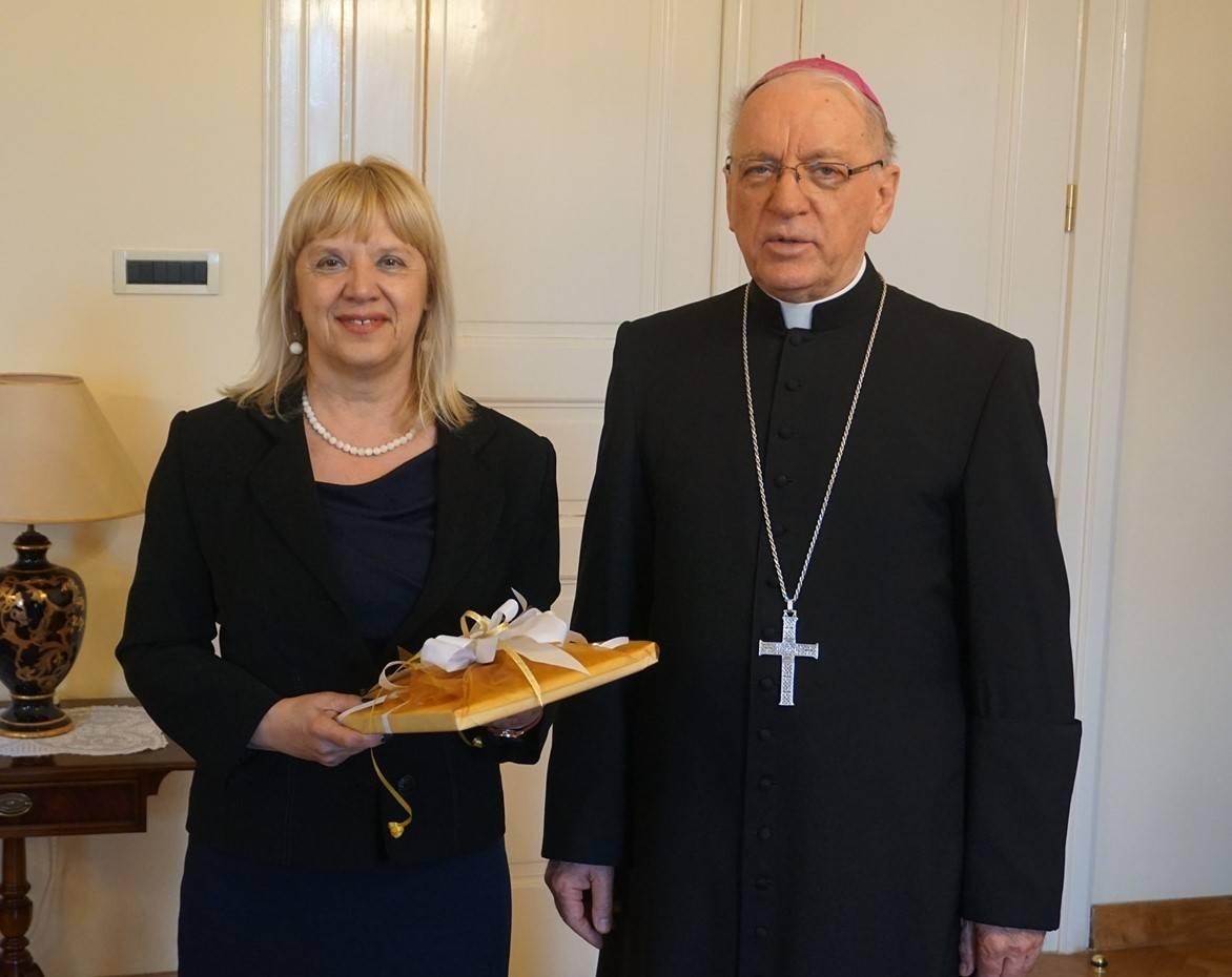 Biskup Škvorčević primio ravnateljicu požeške Gimnazije