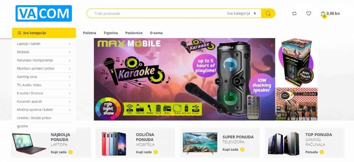 Vacom ima novu internet trgovinu! U ponudi više od 10.000 artikala iz svijeta tehnologije – vacom.hr