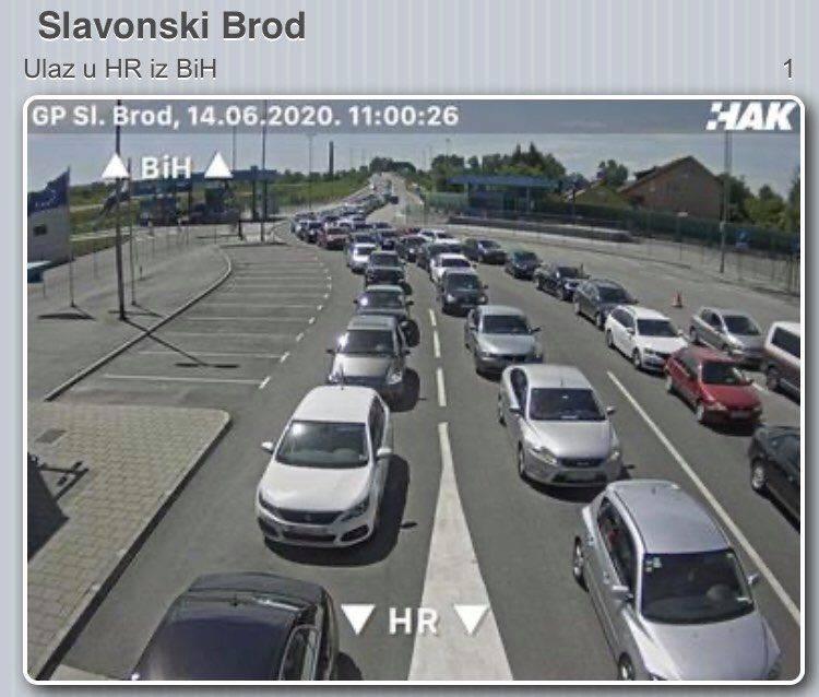 Na ulasku u Hrvatsku čeka se i do sat vremena