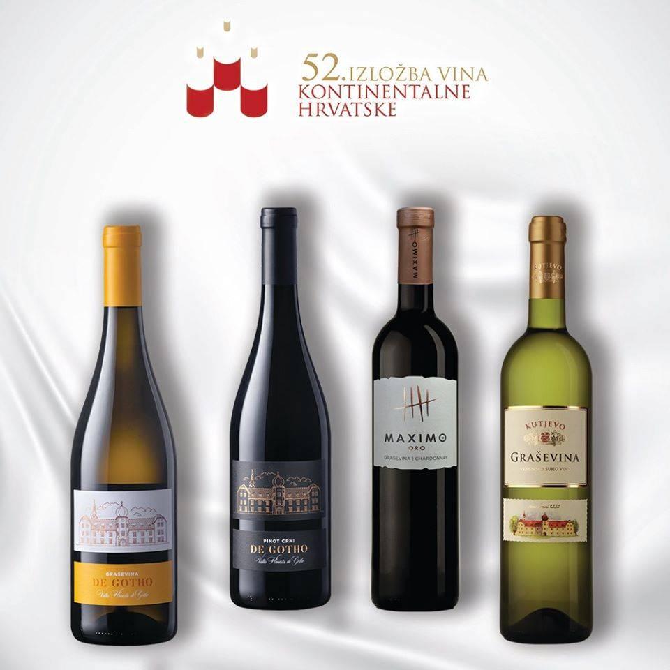 Na 52. izložbi vina kontinentalne Hrvatske vinarija Kutjevo osvojila četiri zlata