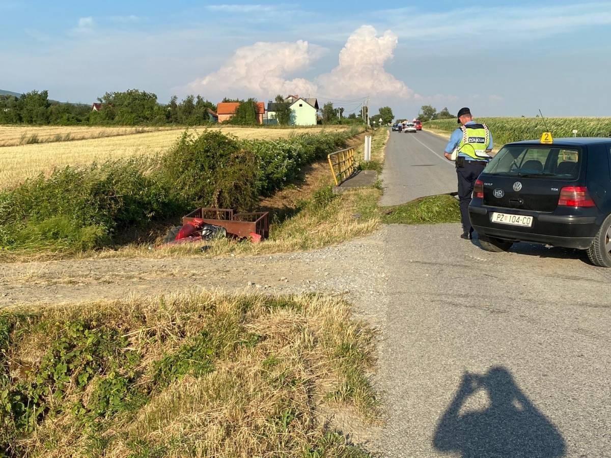Vozač trakora na lijevom blatobranu vozio 16-godišnjakinju koja je teško ozlijeđena u prometnoj nesreći