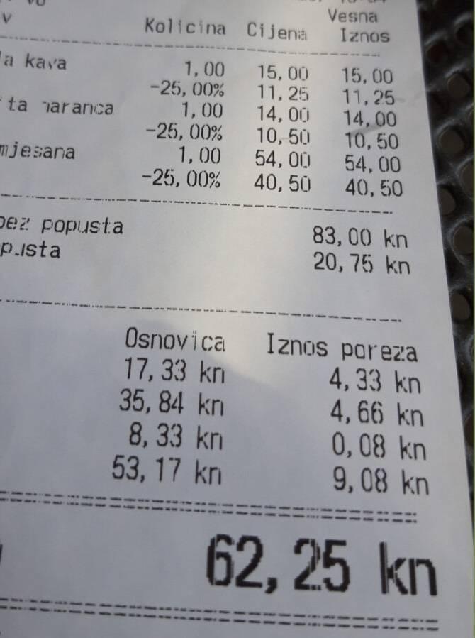 Hrvatski par se šokirao cijenom pizze i dva pića u Dubrovniku