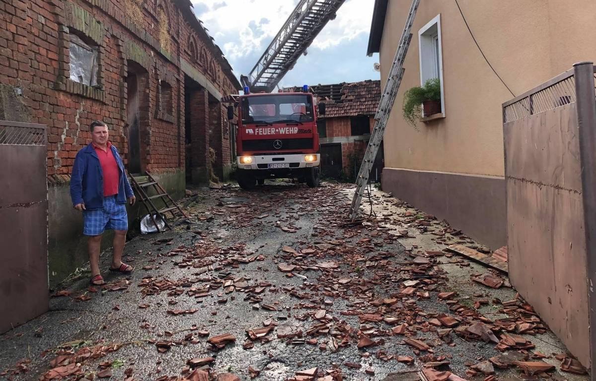 Današnje nevrijeme napravilo veliku štetu na imanju obitelji Ivanagić iz Brđana