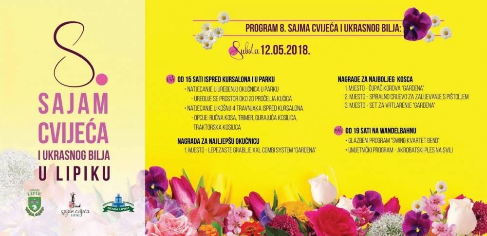 Sajam cvijeća i ukrasnog bilja danas i sutra u Lipiku