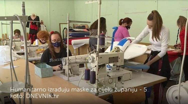 Učenici i nastavnici kroje maske za cijelu Brodsko-posavsku županiju: ʺSašiju šest stotina maski na danʺ