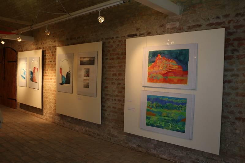 """Otvorena izložba 40. saziva Akvarelističke kolonije """"Sava"""""""