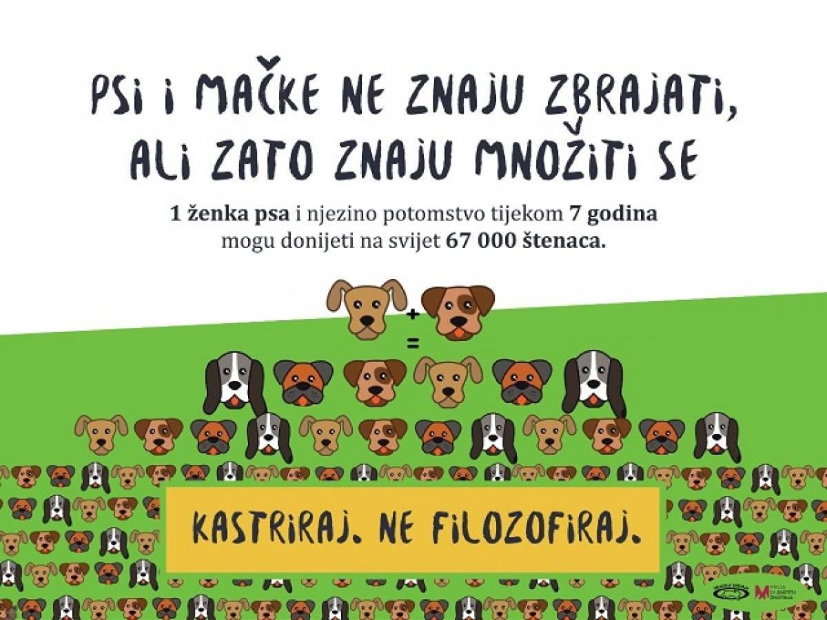 Kampanja Prijatelja životinja - ʺPsi i mačke ne znaju zbrajati, ali znaju množiti se!ʺ
