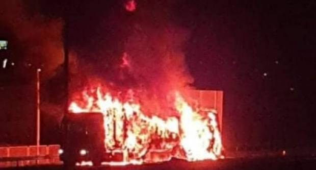 Poznat uzrok požara na teretnom vozilu