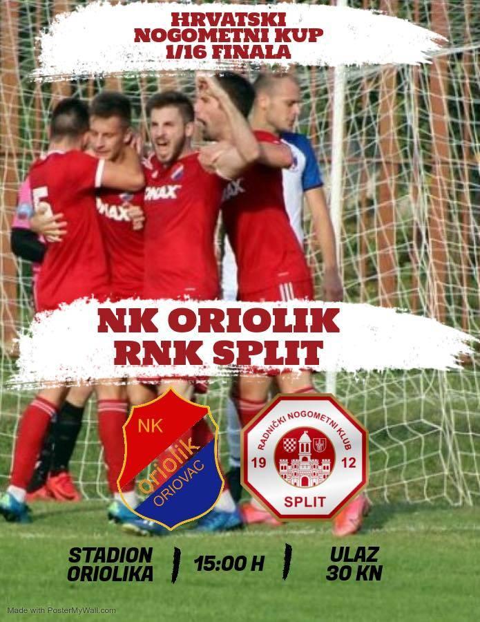Danas u Oriovcu 1/16 finala Kupa Hrvatske