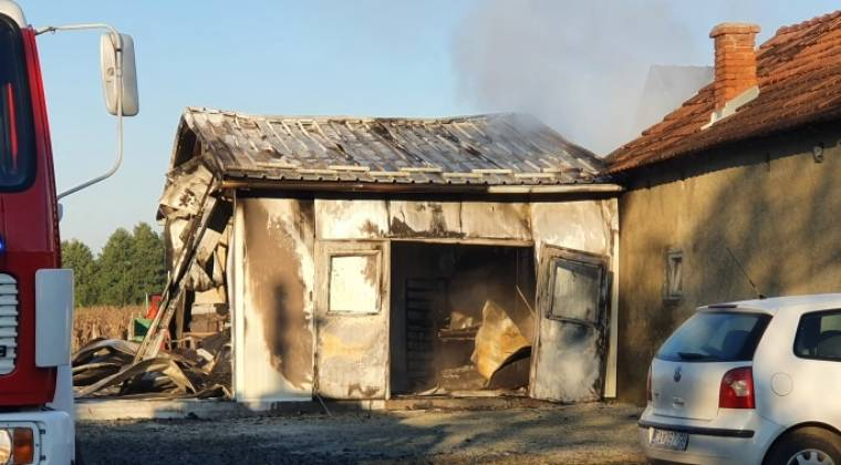 U Novoselcima jutros izgorio objekt pekare