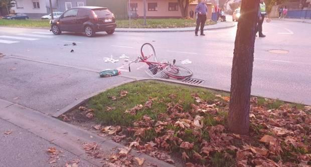 Za jučerašnju prometnu nesreću u Požegi kriva 67-godišnja biciklistkinja
