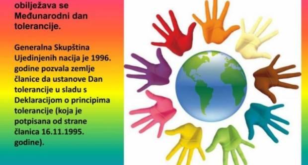 Međunarodni dan tolerancije obilježavamo danas 16. listopada