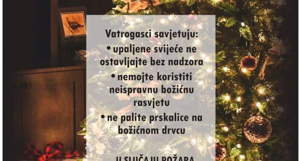 Vatrogasci upozoravaju: oprezno s korištenjem božićnih dekoracija