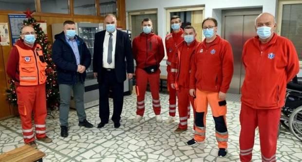 Dežurne službe u Požegi u Silvestarskoj noći posjetio zamjenik gradonačelnika Ferdinand Troha